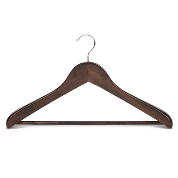 Vintage solid wooden coat hanger for middle and high end market dark brown color
