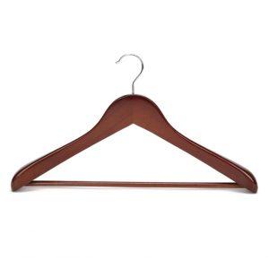 Vintage solid wooden coat hanger for middle and high end market light brown color