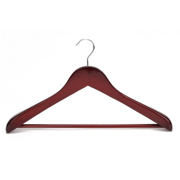 Vintage solid wooden coat hanger for middle and high end market middle brown color