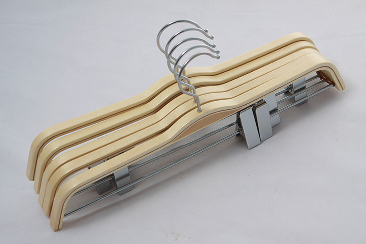 Buy Nature Poplar Wooden Bottom Clip Trousers Hangers From Walmart